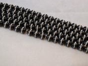 Black Onyx with One-line Rhinestone 10mm Round 15.5'' Strand Beads Gemstone 39pcs