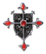 Knights Templar Shield Cross Talisman for Protection from Evil Pendant Amulet