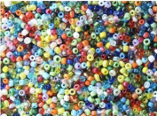 Seed Beads GLASS assorted colours BULK ECONOMY PACK 1/2 kilo (over 1lb) for weaving, loomwork, camp crafts, beading jewellery...