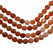 """Fire Agate Facet 4mm Round Small Beads Strand 15.5"""""""