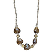 "Lova Jewellery ""Elegant Hearts"" Hand-Blown Venetian Murano Glass Necklace"
