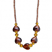 "Lova Jewellery ""Hearts of Glamour"" Hand-Blown Venetian Murano Glass Necklace"