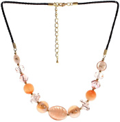 "Lova Jewellery ""Ripe Peach"" Hand-blown Venetian Murano Glass Necklace"
