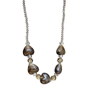 "Lova Jewellery ""Smoky Hearts"" Hand-Blown Venetian Murano Glass Necklace"