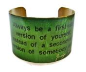 Judy Garland Vintage Style Brass Cuff Bracelet