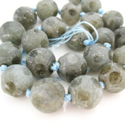 Faceted Round Labradorite Beads - 14mm