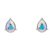 Annaleece Dazzling Crystal Aurore Boreale Earrings. Elements DeVries Hypoallergenic Nickel-Free 4263-ANNA