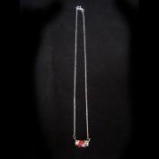 Ruby / Champaign Silver CZ Necklace