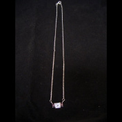 Blue-Violet / Plum Silver CZ Necklace