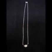Lime / Plum Silver CZ Necklace