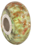 Fenton Art Glass Frosted Margarita Bead - Handmade Lampwork Glass USA Made Williamstown, West Virginia