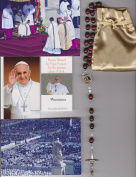 Saint Alphonsus Liguori Relic Rosary Blessed by Pope Francis on 3/19/2013 at Inauguration Mass Patron of Arthritis Brown Wooden Beads