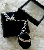 . Lava Pendant / Silver Plated Chain and Gift BOX