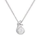 Annaleece April Birthstone Necklace. Elements DeVries Hypoallergenic Nickel-Free ESS10DI-ANNA