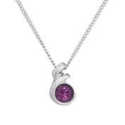 Annaleece February Birthstone Necklace. Elements DeVries Hypoallergenic Nickel-Free ESS10AM-ANNA