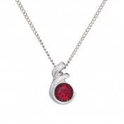 Annaleece July Birthstone Necklace. Elements DeVries Hypoallergenic Nickel-Free ESS10RU-ANNA
