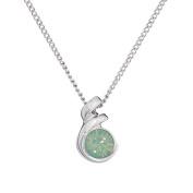 Annaleece October Birthstone Necklace. Elements DeVries Hypoallergenic Nickel-Free ESS10OP-ANNA