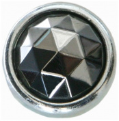 Diamond Head Upholstery Tack Crystal Stone, Silver Diamond, 13mm in Silver Setting