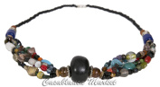 Handmade Moroccan Black Accented Beadwork Necklace
