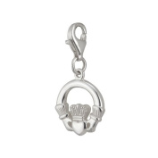 Sterling Silver Claddagh and Lobster Catch-Made in Ireland