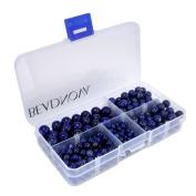 Beadnova-Grade A Natural Deep Blue Lapis Lazuli Round Beads 4mm 6mm 8mm 10mm Mix Lot Box Set Value Pack