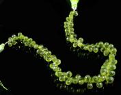 "Natural Green Peridot Gemstone 96 Beads 6-8mm Drop Shaped Beads String Strand 8"""