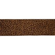 Vickerman 78030cm - 10cm x 10yd Brown Leopard Velvet Ribbon