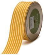 May Arts 3.8cm Wide Ribbon, Butterscotch Grosgrain Stripe
