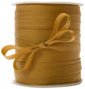 May Arts 1cm Wide Ribbon, Antique Gold Grosgrain