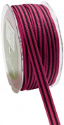 May Arts 1cm Wide Ribbon, Fuchsia Grosgrain Stripe