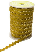 May Arts 1cm Wide Ribbon, Sweetpea Velvet Ric Rac