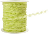 May Arts 0.5cm Wide Ribbon, Celery Looped String
