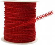 May Arts 0.5cm Wide Ribbon, Burgundy Looped String