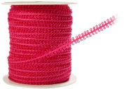 May Arts 0.5cm Wide Ribbon, Fuchsia Looped String