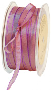 May Arts 0.6cm Wide Ribbon, Burgundy and Purple Iridescent