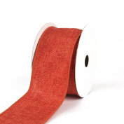 Creative Ideas Wired Burlap Ribbon, 6.4cm , Orange