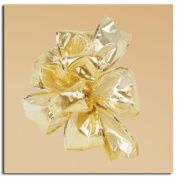 Luxurious Gold Metallic Gift Boxed Wired Craft Ribbon 6.4cm x 10 Yards