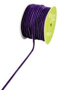 May Arts 0.3cm Wide Ribbon, Purple Velvet
