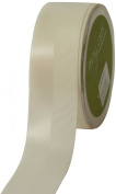 May Arts 1.6cm Wide Ribbon, Ivory Satin and Grosgrain