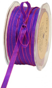 May Arts 0.6cm Wide Ribbon, Purple and Pink Iridescent