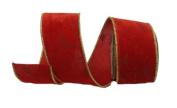 Renaissance 2000 Ribbon, 6.4cm , Red Velvet with Red Velvet Lamour
