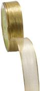 May Arts 2.5cm Wide Ribbon, Metallic Gold