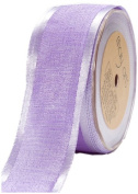 May Arts 3.8cm Wide Ribbon, Lavender Textured