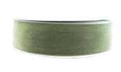 May Arts 3.8cm Wide Ribbon, Olive Velvet