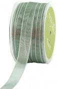 May Arts 1.6cm Wide Ribbon, Green Iridescent Metallic