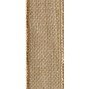 Offray Wired Edge Burlap Craft Ribbon, 6.4cm Wide by 25-Yard Spool, Natural