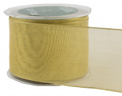 May Arts 6.4cm Wide Ribbon, Metallic Gold