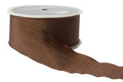 May Arts 3.8cm Wide Ribbon, Brown Solid