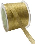 May Arts 1.3cm Wide Ribbon, Metallic Gold