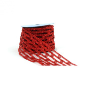 Berwick 10cm Wide by 10-Yard Spool Wired Edge Catchy Craft Ribbon, Red